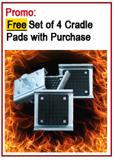 Bendpak Free set of 4 frame cradle pads offer