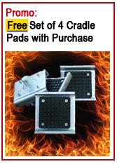 Bendpak Free set of 4 frame cradle pads offer